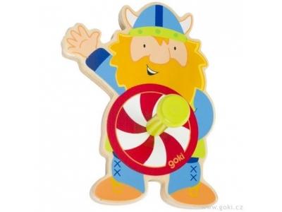 Goki Dětský věšák ze dřeva – viking