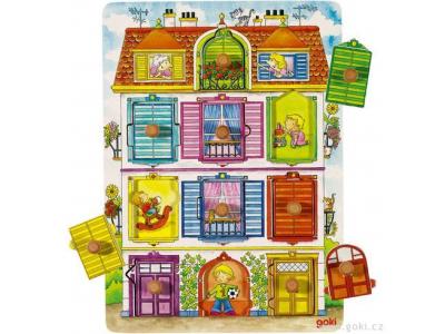 Goki Puzzle s dřevěnými úchytkami – Naše vila