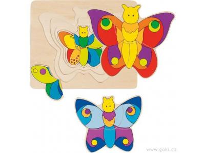 Goki Vícevrstvé puzzle – Motýlek