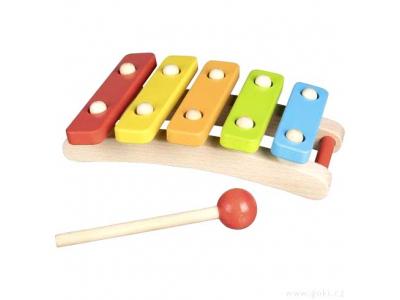 Goki Barevný xylofon, 5 tónů