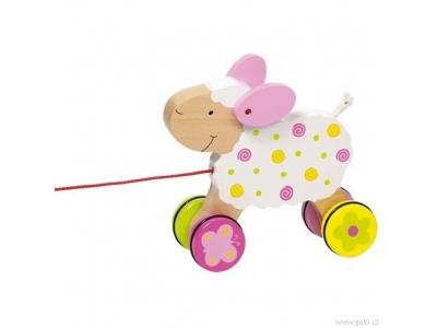 Goki Tahací hračka ovečka Zuzka