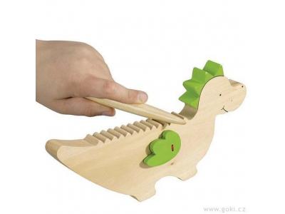 Dráček Kvído hudební hračka ze dřeva - Goki