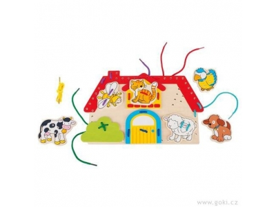 Goki Provlékací motorická hračka - Farma
