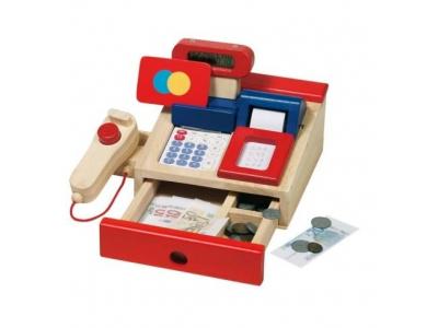 Goki Dětská dřevěná multifunkční pokladna
