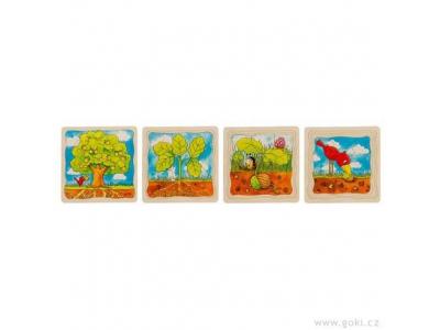 Goki Vývojové vrstvené puzzle, 4 vrstvy, 44 díly - Strom