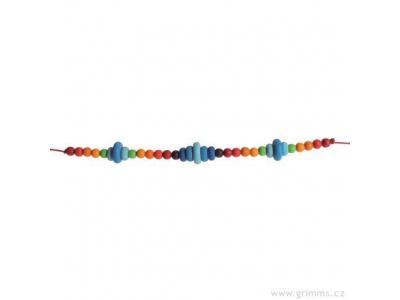 Grimm´s Dřevěný řetěz do kočárku - modrý