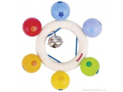 Heimess Duhové perličky - dřevěná hračka pro miminka