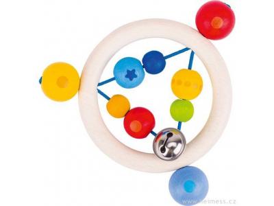 Heimess Duha kroužek - dřevěná hračka pro miminka