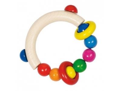 Heimess Dřevěná hračka pro miminka Půlkruh s kroužky