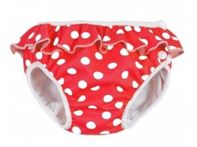 Imse Vimse Plenkové plavky - Červený puntík (s kanýrkem)