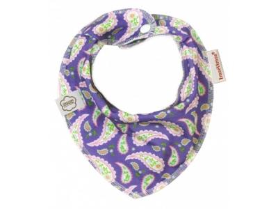 Imse Vimse Šátek slintáček - paisley fialové