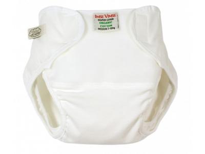 Imse Vimse Organic Svrchní kalhotky, vel.S - bílé