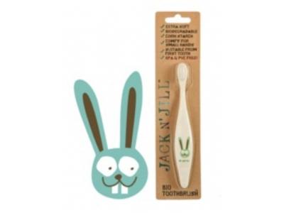 Jack n´Jill BIO zubní kartáček pro děti ultra soft - Zajíc