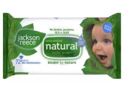 Jackson Reece Dětské vlhčené eko ubrousky 64ks - neparfémované
