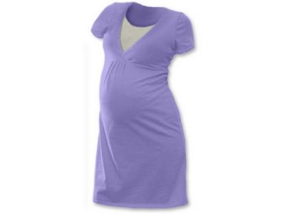 Jožánek Těhotenská a kojící noční košile (krátký rukáv) - šeříková