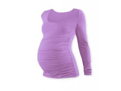 Jožánek Těhotenské tričko, kulatý výstřih (dlouhý rukáv) - šeříkové, L/XL