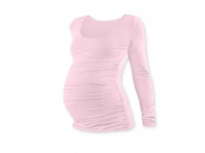 Jožánek Těhotenské tričko (dlouhý rukáv) - růžové, S/M