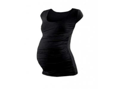 Jožánek Těhotenské tričko (mini rukáv) - černé, S/M