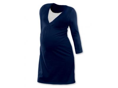 Jožánek Těhotenská a kojící noční košile (dlouhý rukáv) - jeans