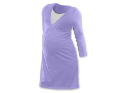 Jožánek Těhotenská a kojící noční košile (dlouhý rukáv) - šeříková