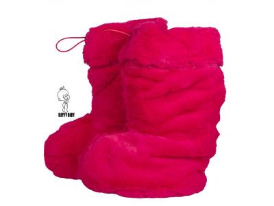 Katyv Baby Botičky s MERINO vlnou - růžové