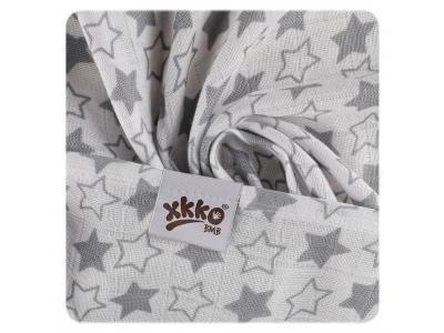 KIKKO Bambusová osuška XKKO BMB 90x100 - Little Stars Silver - 1ks