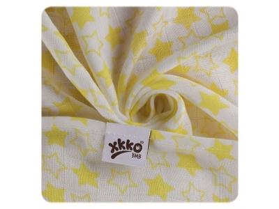 KIKKO Bambusová osuška XKKO BMB 90x100 - Little Stars Lemon- 1ks