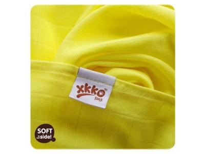 KIKKO Bambusová osuška / tetra plena 90x100cm - žlutá