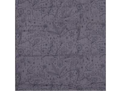 Mušelín z bambusu - Manga šedý