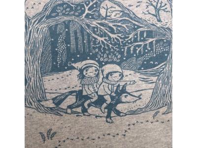 Úplet French Terry z BIO bavlny - čarovný les