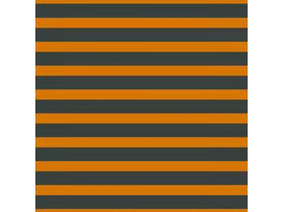 Úplet z BIO bavlny - pruhy oranžová/tmavá myslivecká zelená