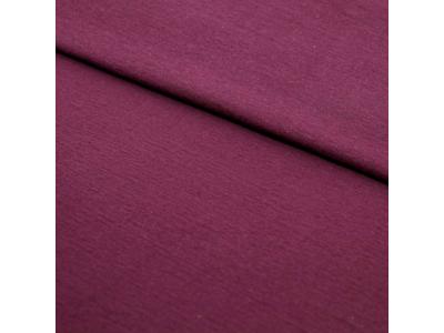 Úplet French Terry z BIO bavlny - fialovovínová