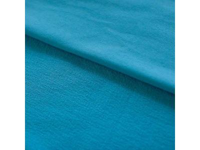Úplet Teplákovina z BIO bavlny - tyrkys