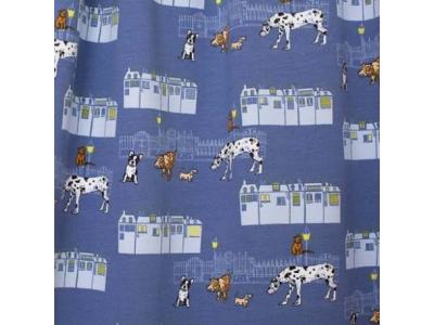 Úplet Letní teplákovina z BIO bavlny - noční psí setkání
