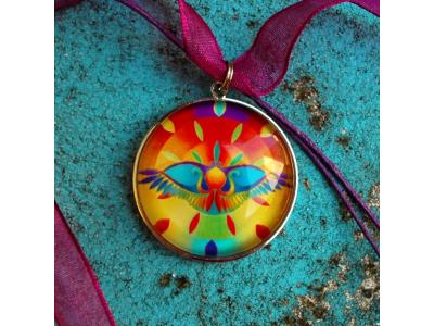 Mandala na krk - Ochranný egyptský sluneční symbol