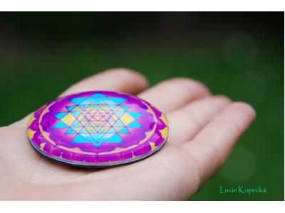 Magnet kulatý - Šrí jantra
