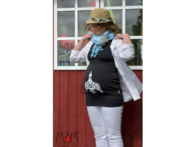 MaM MultiTube Organic Cotton, těhotenský a kojící top - Pregnant Duck, S/M