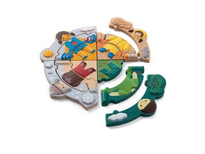 PlanToys Puzzle - Oblékání podle počasí
