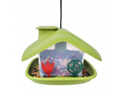 Plastia Ptačí krmítko Domek - zelené
