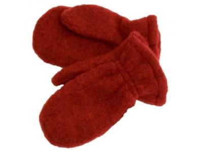IoBio Rukavice palčáky z vlněného flísu - červené