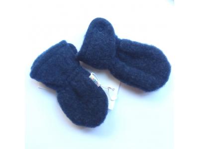 IoBio Rukavice pro novorozence z vlněného flísu - modré