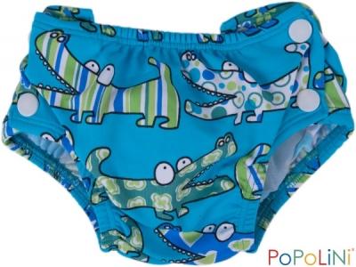 Popoliny Plenkové plavky - modrý krokodýl