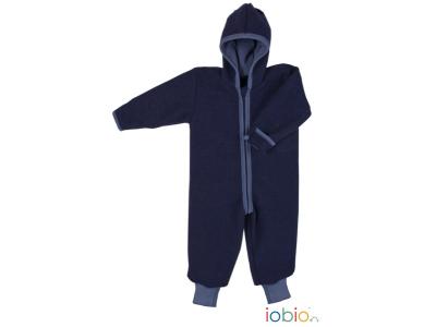 IoBio Vlněná kombinéza s kapucí - modrá