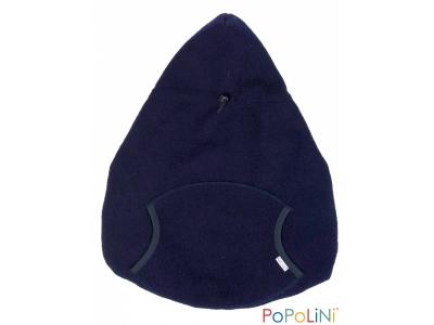 Popolini Vlněná zateplovací kapsa - modrá