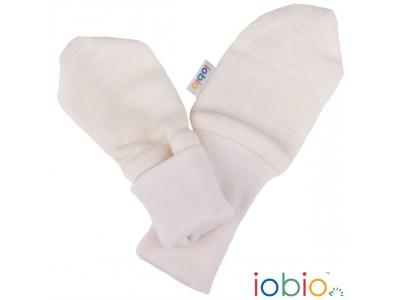 IoBio Rukavičky pro novorozence - vlna / hedvábí