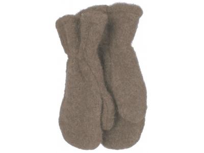 IoBio Rukavice palčáky z vlněného flísu - hnědé