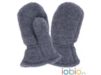 IoBio Rukavice palčáky z vlněného flísu - šedé
