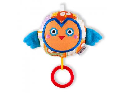 Šapitó Chrastítko pro miminka - Sovička s modrými křidýlky